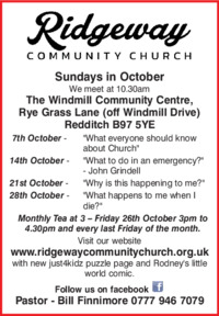 Ridgeway Community Church Advert