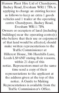 Henson Plant Hire Advert