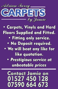 Adrian Tarry Carpets Of Redditch Ltd Advert