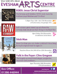 Evesham Arts Centre Advert
