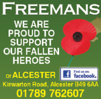 Freemans Of Alcester Advert