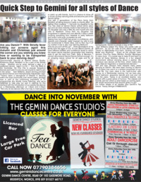 Gemini Dance Centre Advert