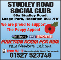 Studley Road Social Club Advert