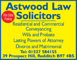 Astwood Law Advert