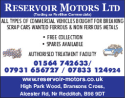 Reservoir Motors Advert
