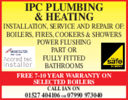 I P C Plumbing And Heating Advert