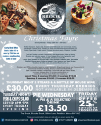 The Brook Inn Advert