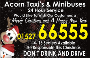 Acorn Taxis Advert