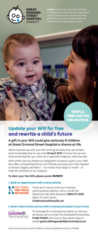 Great Ormond Street Hospital Advert