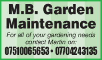 Butlers Garden Services Advert