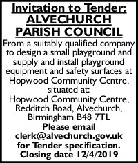 Alvechurch Parish Council Advert