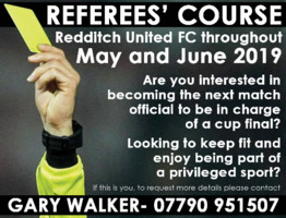 Redditch Referee's Advert
