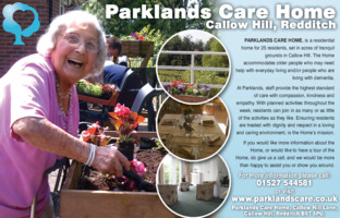 Parklands Residential Home Advert