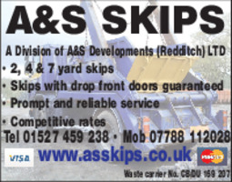 A & S Skips Advert