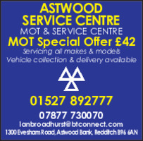 Astwood Service Centre Advert