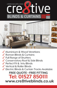 Cre8tive Blinds Advert