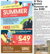 Severn Valley Railway Advert