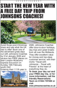 Johnson Coaches Advert