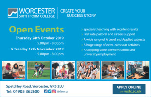 Worcester Sixth Form College Advert