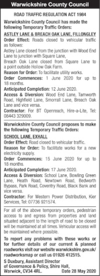 Warwickshire County Council Advert