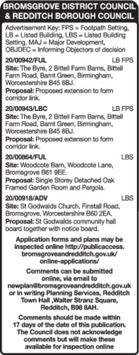 Bromsgrove District Council Advert