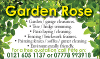 Garden Rose Advert