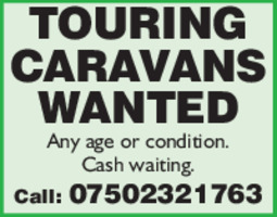 Touring Caravans Advert