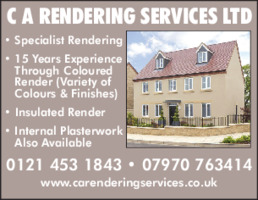 C A Rendering Services Ltd Advert