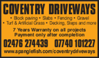 Coventry Driveways Advert