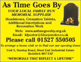 As Time Goes By Advert
