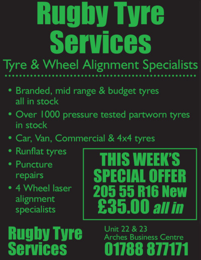 Rugby Tyre Service Ltd Advert