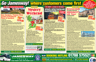 Jamesway Travel Advert