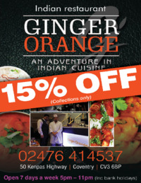 MAH Catering Ltd t/a Ginger Orange Advert