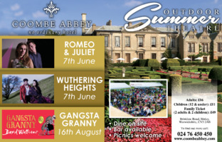 Coombe Abbey Hotel Advert