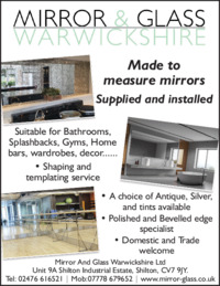 Mirror And Glass Warwickshire Ltd Advert