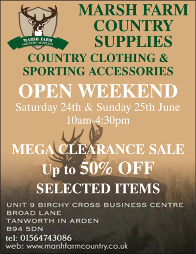Marsh Farm Country Supplies Advert