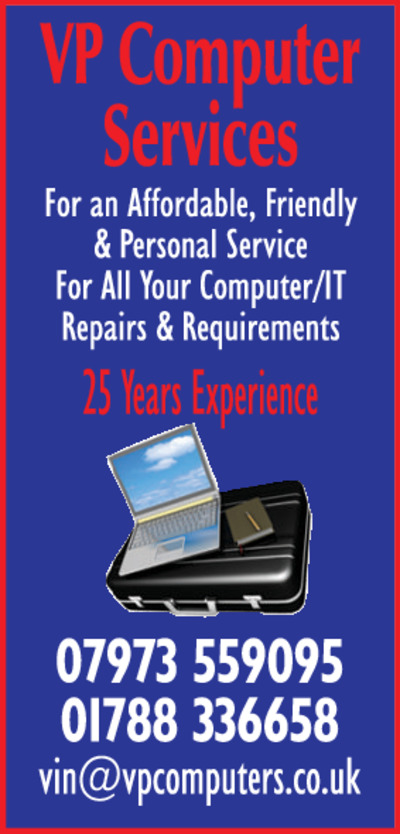 V P Computers Advert