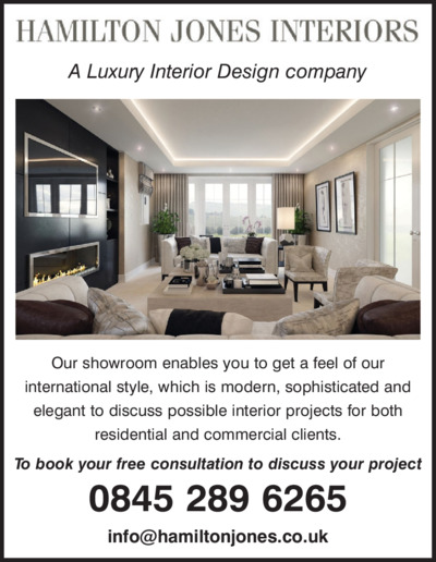 Hamilton Jones Interiors Advert