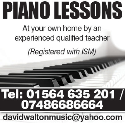 Piano Teacher Advert