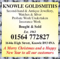 Knowle Goldsmith Ltd Advert