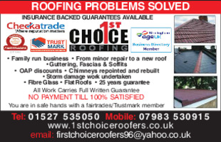 1st Choice Roofing Advert