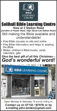 Bible Learning Centre Advert