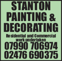 Stanton Decorating Advert