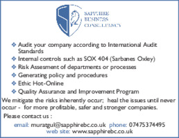 Sapphire Business Consultancy Advert