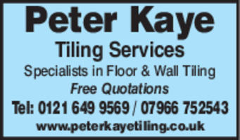 Peter Kaye Tiling Services Advert