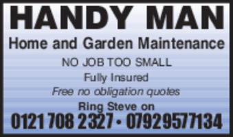 Handyman Advert