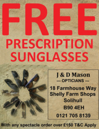 J & D Mason Optiicians Ltd Advert