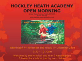 Hockley Heath Academy Advert