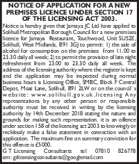 G T Licensing Consultants Advert