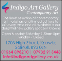 Indigo Art Gallery Advert